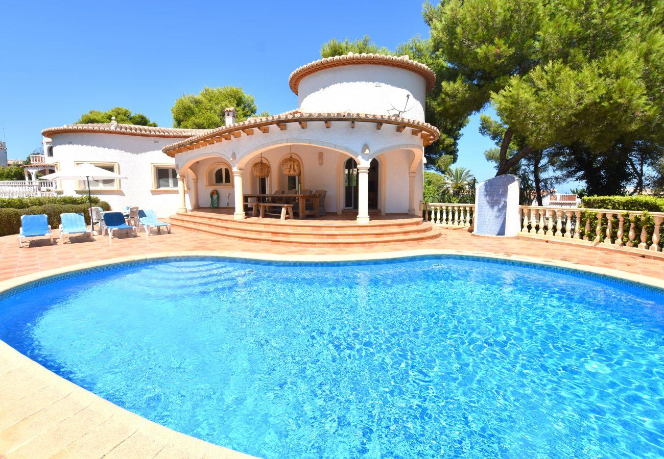 Chalet en Javea / Xàbia - Chalet en Javea 4p vistas al mar  piscina 8x4 playa Arenal a 7km