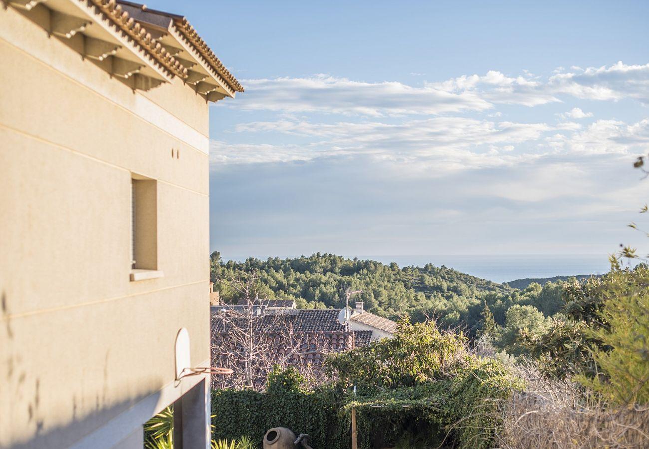 Villa à Calafell - Chalet de vacances pour 8 personnes avec vue panoramique